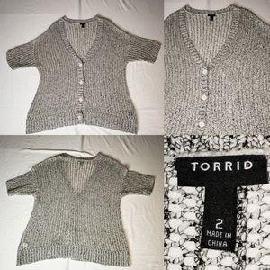Torrid Cardigan Sweater Sweatshirt 4 Button open